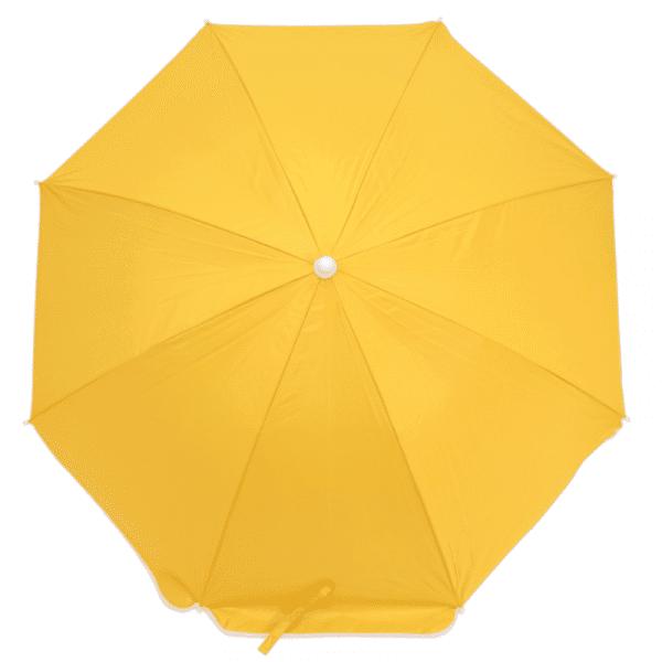 Guarda-Sol Poliéster Proteção UV 1,76 m Amarelo