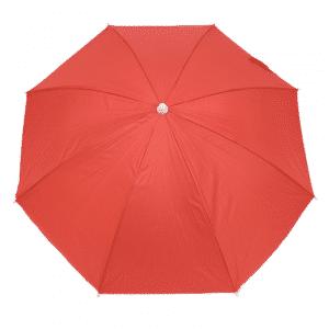 Guarda-Sol Poliéster Proteção UV 1,76 m Vermelho