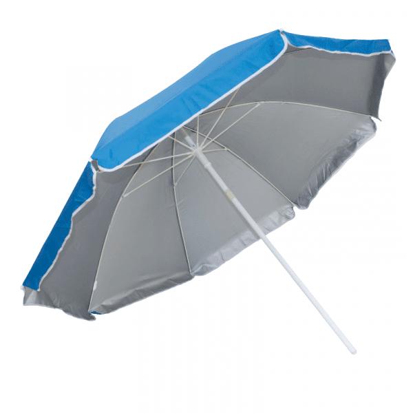 Guarda-Sol Poliéster Proteção UV 1,76 m Resistente Azul Claro