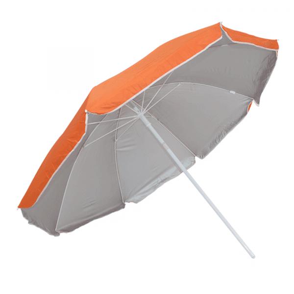 Guarda-Sol Poliéster Proteção UV 1,76 m Resistente Laranja