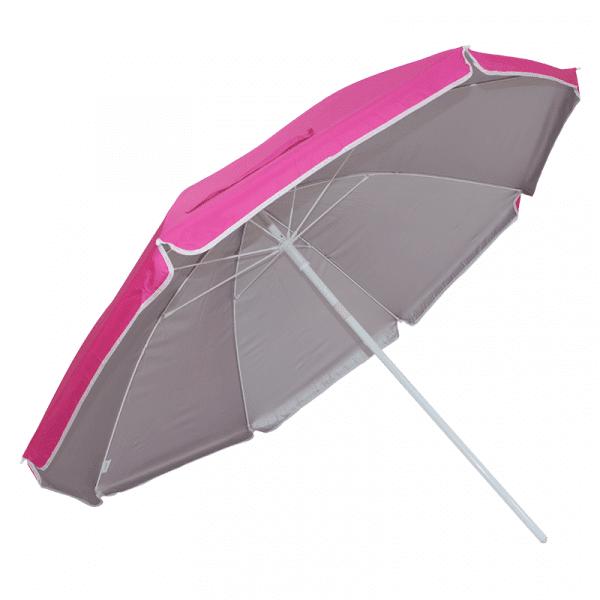 Guarda-Sol Poliéster Proteção UV 1,76 m Resistente Rosa