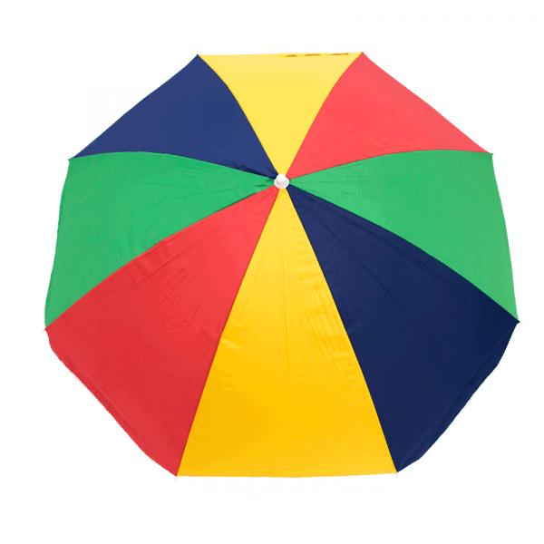 Guarda-Sol Poliéster Proteção UV 1,76 m Resistente Multicolorido