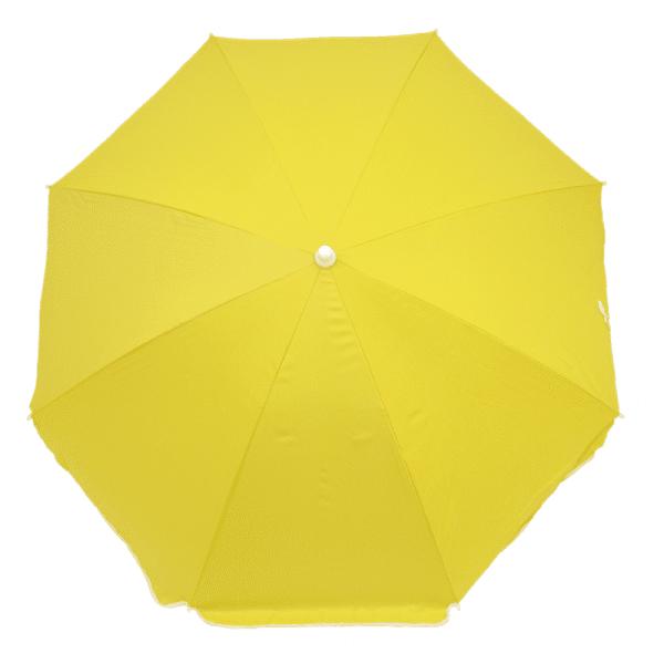 Guarda-Sol Poliéster Proteção UV 1,76 m Resistente Amarelo