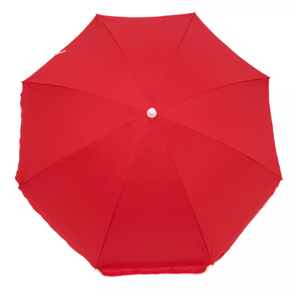 Guarda-Sol Poliéster Proteção UV 1,76 m Resistente Vermelho