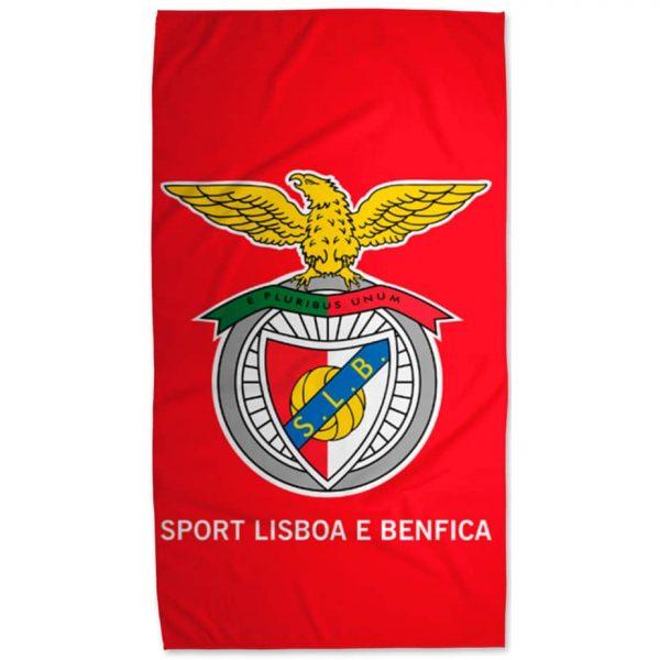 SL Benfica Licensed Red Background Microfiber Beach Towel