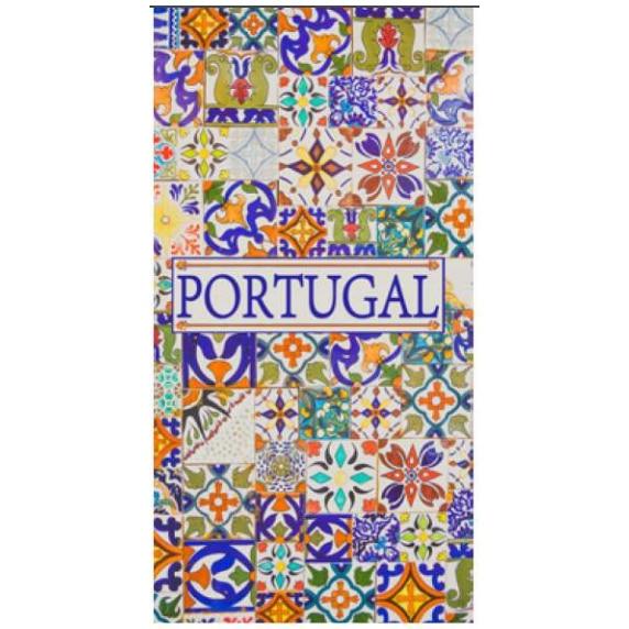 Toalha de Praia Microfibra Azulejos Portugal 2 180 x 100 cm