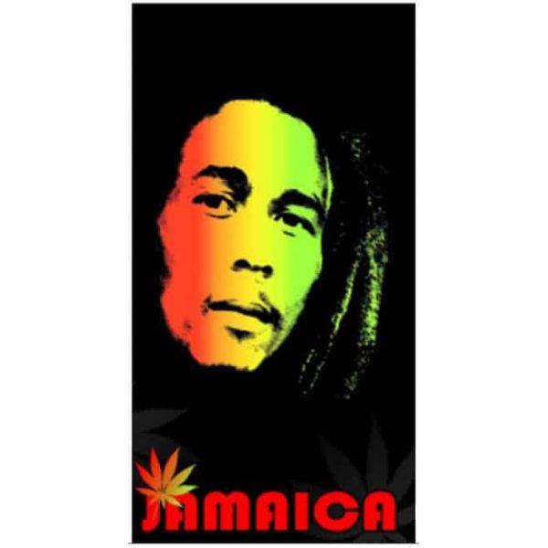 Toalha de Praia Microfibra Bob Marley 180 x 100 cm