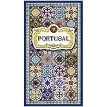 Toalha de Praia Microfibra Azulejos Portugal 4 180 x 100 cm