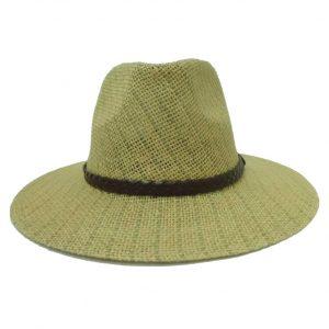 Chapéu de Homem com Aba Direita e Fita em Trança