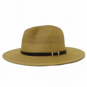 Chapéu de Homem com Aba Direita e Pala Fina