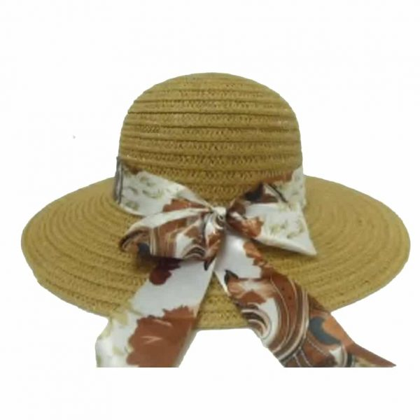 Women's Capline with Ribbon and Flower Bow
