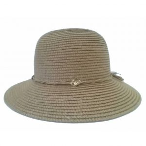 Plain Short-Brimmed Lady's Hat with String