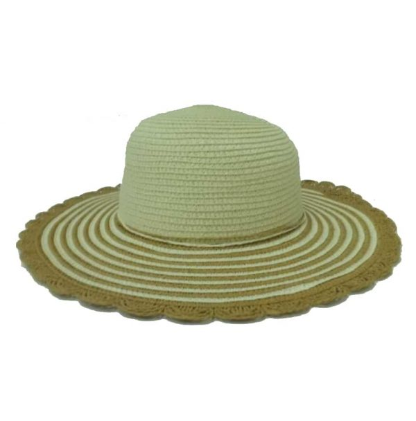 Simple Lady's Capline with Striped Flap and Round Tips