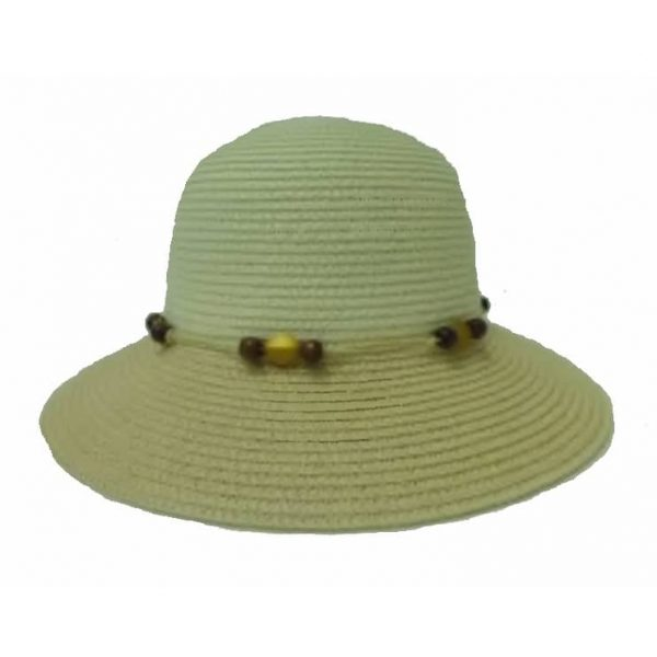 Two-Color Short Brim Lady Hat