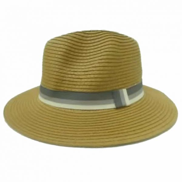 Unisex Hat with Striped Ribbon