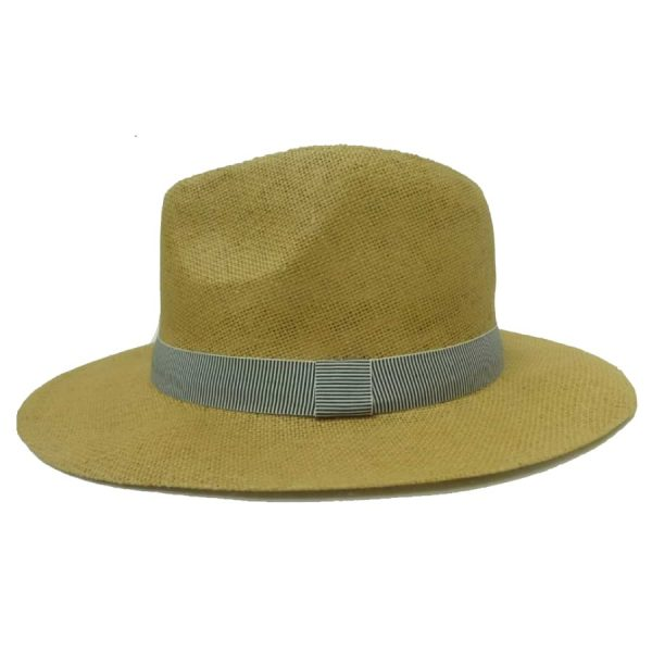 Men's Hat with Vertical Striped Ribbon