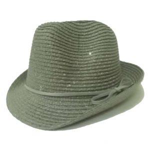 Chapéu Pequeno Liso de Aba Virada com Lantejoulas