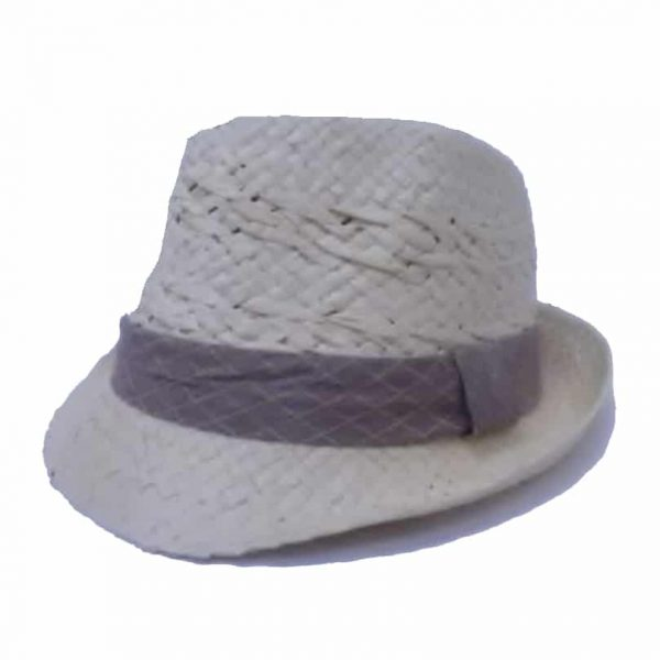 Small Raft Hat with Flap and Checkered Ribbon