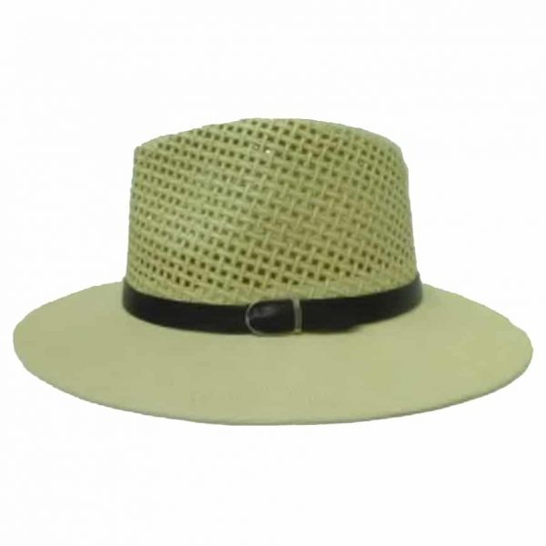 Man's Hat with open Cup and Black Ribbon