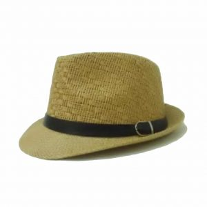 Flat Small Hat with Flap and Patterned Cup