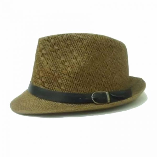 Flat Small Hat with Flap and Patterned Cup\