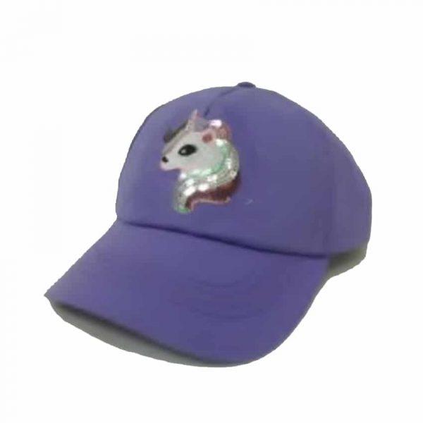 Girl's Cap with Sparkling Unicorn