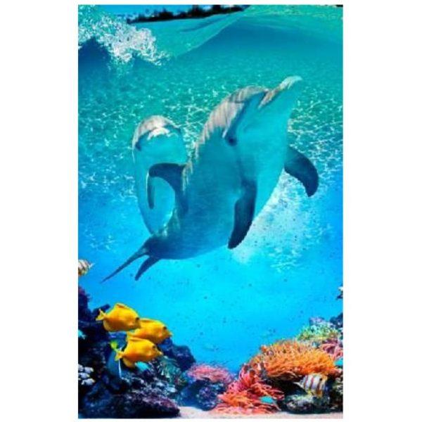 Toalha de Praia Microfibra Golfinhos 180 x 100 cm