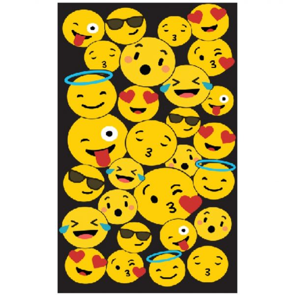 Toalha de Praia Microfibra Emojis 180 x 100 cm