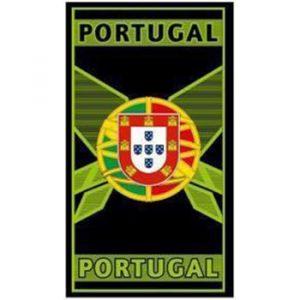 Portugal Green Microfiber Beach Towel 180 x 100 cm