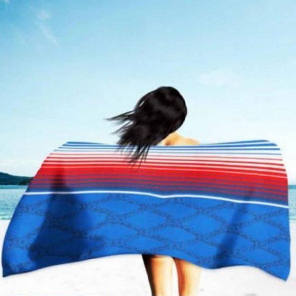 Toalha de Praia Microfibra Malha de Cordas 180 x 100 cm
