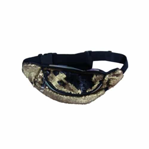 Golden Sequined Waist Bag