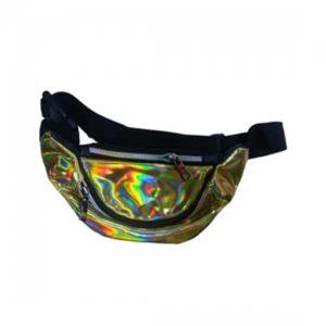 Bolsa de Cintura Lisa Holográfica