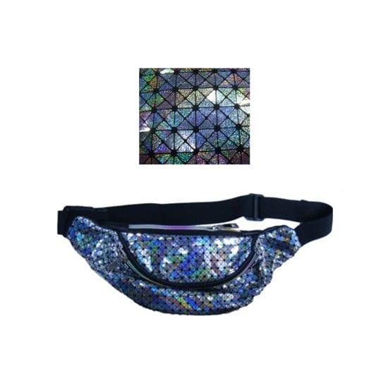 Bolsa de Cintura Holográfica com Padrões
