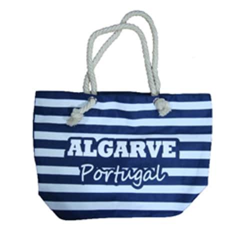 Blue Striped Strap Beach Bag Algarve Portugal