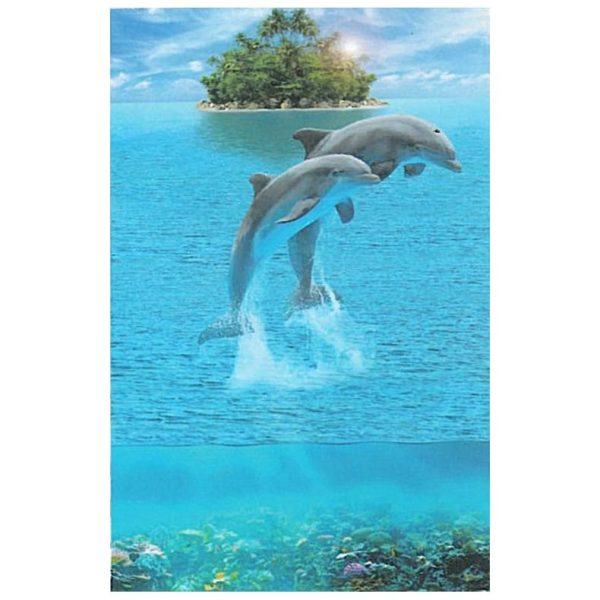 Toalha de Praia Microfibra Golfinhos a Saltar 180 x 100 cm