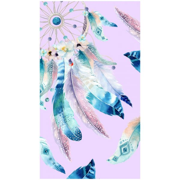 Pink Dream Catcher Microfiber Beach Towel