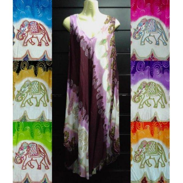 Vestido Babula Elefantes Coloridos