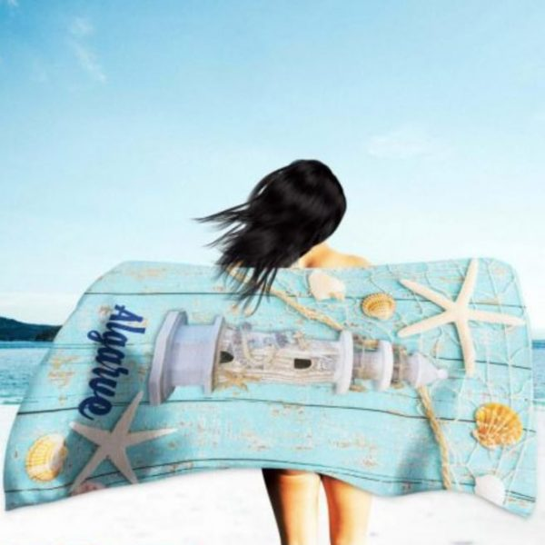 Lighthouse Algarve Microfiber Beach Towel 180 x 100 cm
