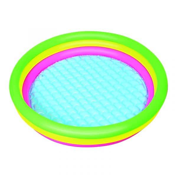 Piscina Insuflável 3 Anéis Coloridos Bestway 102 cm