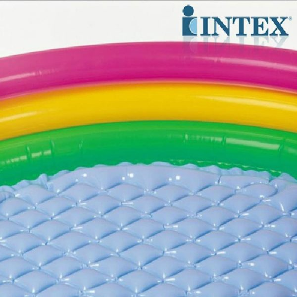 Intex Inflatable Swimming Pool with 3 Colored Rings 86 cm