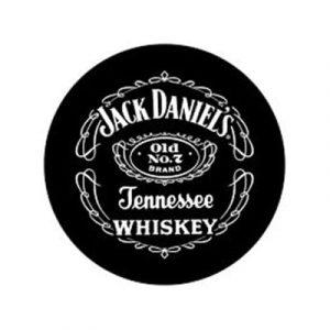 Toalha de Praia Microfibra Redonda Jack Daniels 150 cm