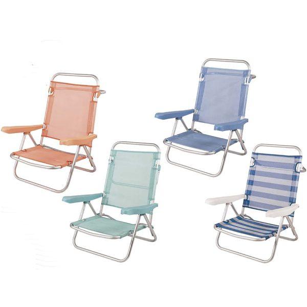 Cadeiras de Praia de Alumínio Reclináveis até Deitar