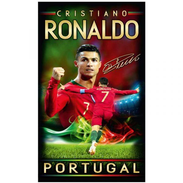 Toalha de Praia Microfibra Cristiano Ronaldo Assinado Portugal