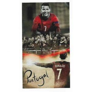 Toalha de Praia Microfibra Cristiano Ronaldo Portugal Euro 2016