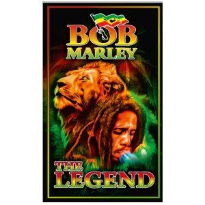 Toalha de Praia Microfibra Bob Marley The Legend 180 x 100cm