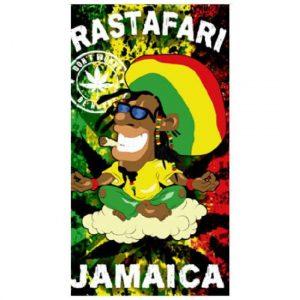 Toalha de Praia Microfibra Rastafari Jamaica 180 x 100 cm