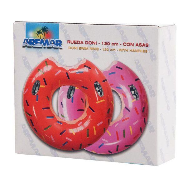 Caixa da Boia Insuflável Donut Grande com Pegas Aremar