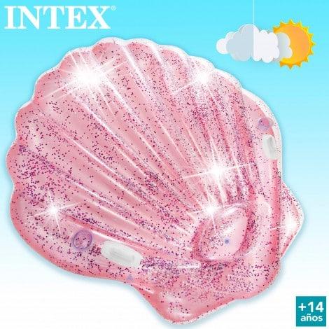 Concha Insuflável Gigante com Purpurinas Intex