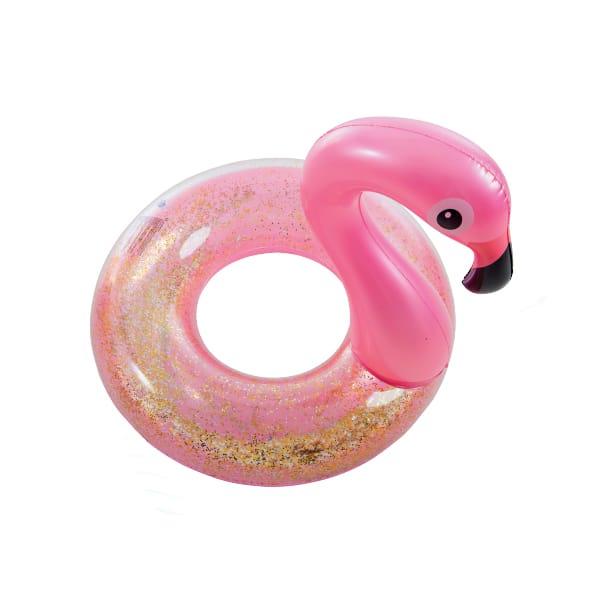 Bóia Flamingo Insuflável com Purpurinas Aremar