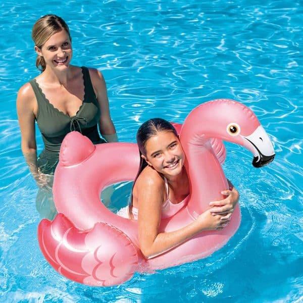 Bóia Flamingo Insuflável Rosa Pérolada Intex